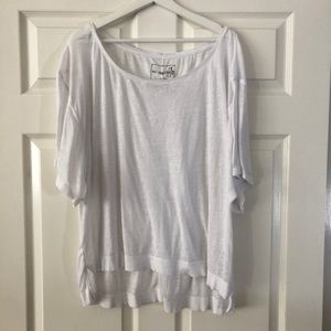Free People We The Free White Burnout Top. Sz L